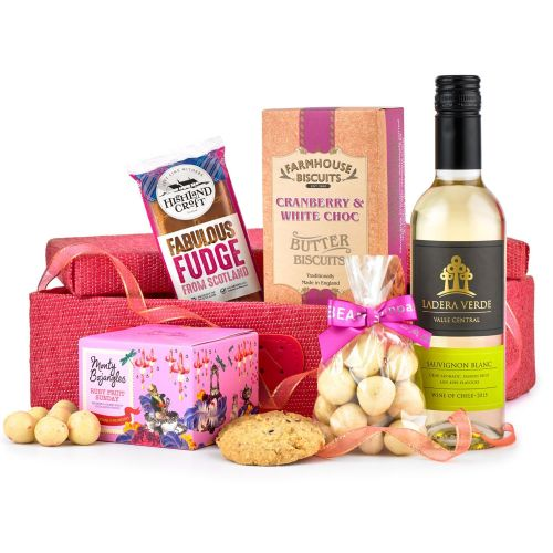 Pretty in Pink Food and Wine Hamper